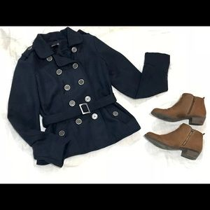 Wet Seal Navy Blue Peacoat with Belt!